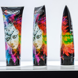 LAGEENTUBES unveiled its first plastic tubes fully and directly decorated by digital printing